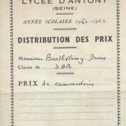 1961. Prix de camaraderie pour Denis.